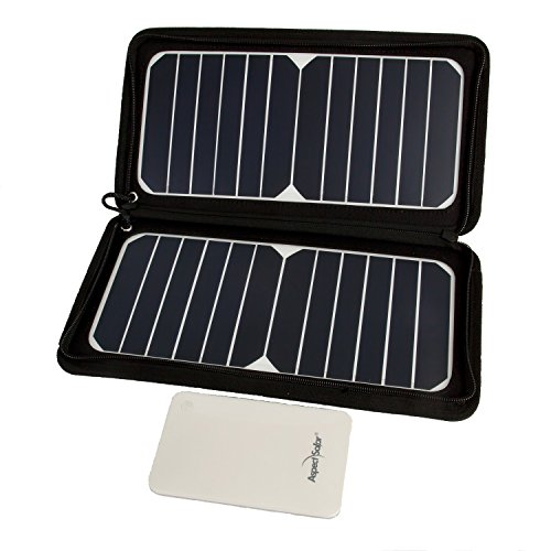 Aspect Solar DUO-Flex2 Package Plus Solar Kit: 13W Portable Foldable Solar Panel Charger and 8000mAh Battery to Power Your Apple iPhone, iPad, Samsung Galaxy, Android Phone, Camera, GoPro, Bluetooth Speaker, PSP and other USB Charged Devices On the Go by Aspect Solar