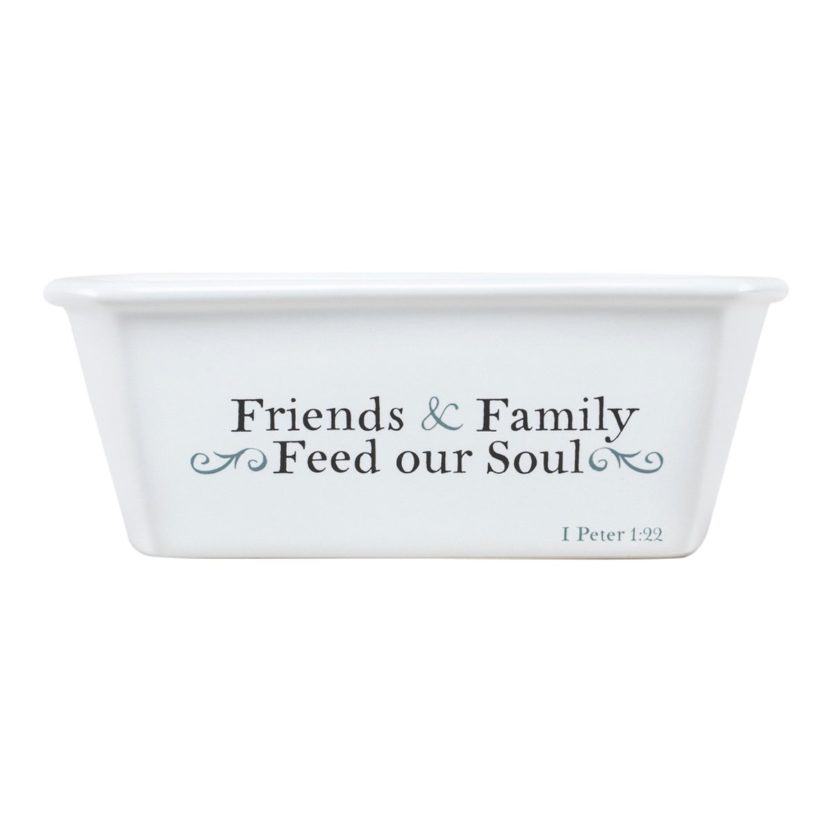 Mini Loaf Pan - Friends and Family - White