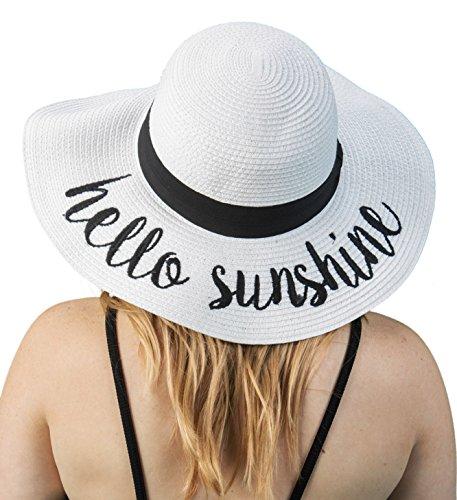 H-2017-HS09 Funky Junque Sun Hat - Hello Sunshine (White) ()