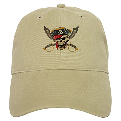 Royal Lion Cap (Hat) Pirate Skull Eyepatch Gold Tooth - Khaki - Pirate Tooth Cap With Skull