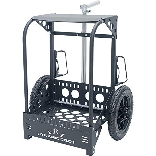 Dynamic Discs Backpack Cart LG by ZÜCA - Offers 50% Greater Capacity Than The Original Backpack Cart - Black