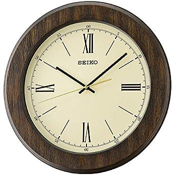 Amazon Com Seiko Wood Wall Clock Model Qxa682blh Watches