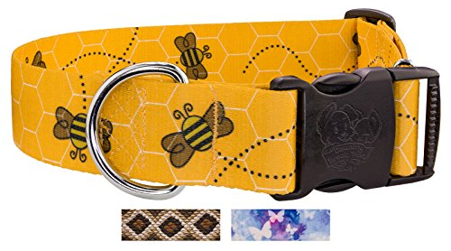Country Brook Design | 1 1/2 Inch Deluxe Busy Bee Dog Collar - Large]()