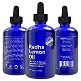 Radha Beauty Lemon Essential Oil 4 Oz - 5x Extra Strength 100% Pure & Natural - Steam Distilled Premium Quality Oil from Italy