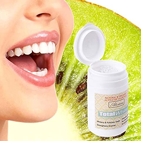 Ecurson Teeth Whitening Powder Natural Organic Activated Charcoal Bamboo Toothpaste