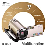 Camcorder, Hausbell Camcorder with WiFi,HDV-5052 1920x1080p Digital Video Camera Camcorder with Infrared Night Vision, Touch Screen and HDMI Output (1 Pack) by Hausbell