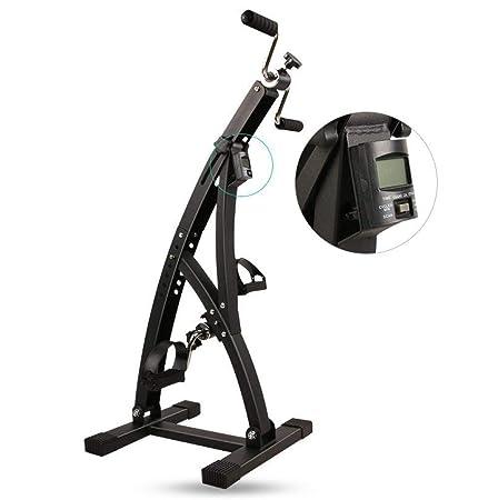 WYJJJJJ Fitness Machine Pedales Ejercitador Bicicleta estática Resistencia Ajustable for piernas Brazo y Rodilla Recuperación Ejercicio Fitness Equipo de rehabilitación con Monitor LCD Adjust Muscle: Amazon.es: Hogar