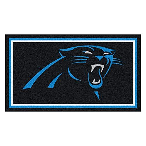 NFL Carolina Panthers 3 Ft. x 5 Ft. Area RUG3 Ft. x 5 Ft. Area Rug, Black, 3' x 5'