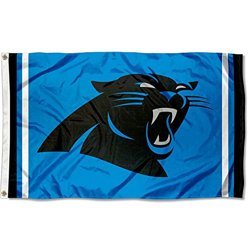Carolina Panthers Flag - Carolina Panthers Panther Blue Flag
