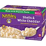 #3: Annie's Macaroni and Cheese, Shells & White Cheddar Mac and Cheese, 6 oz Box (Pack of 12)