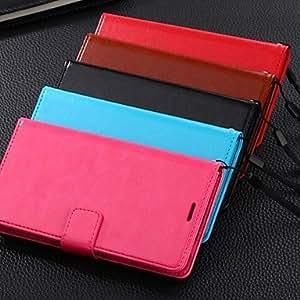 Teléfono Móvil Samsung - Carcasas de Cuerpo Completo/Fundas con Soporte - Color Sólido - para Samsung S5 i9600 ( Negro/Rojo/Azul/Marrón/Rosa ,Cuero , Red