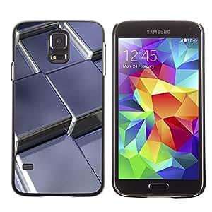 Be Good Phone Accessory // Dura Cáscara cubierta Protectora Caso Carcasa Funda de Protección para Samsung Galaxy S5 SM-G900 // Abstract Metal Cubes