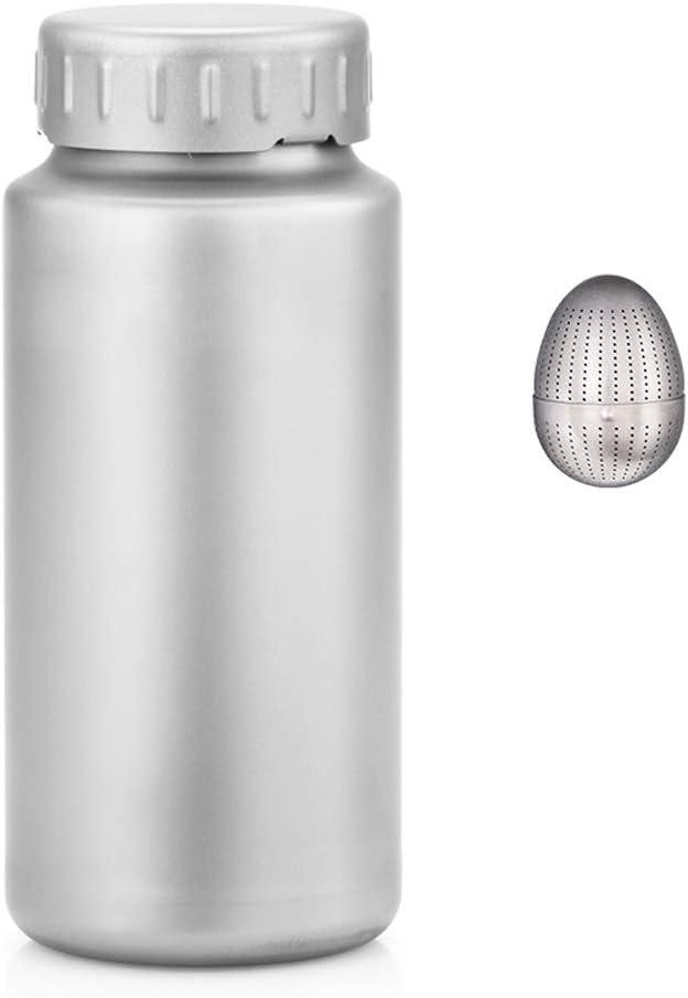 Jia Xing ふたサーモス純チタン広口ポットアウトドアスポーツボトルライトポータブル大容量チタン水カップチタンポット1.2リットルのケトル大サーモス 水筒