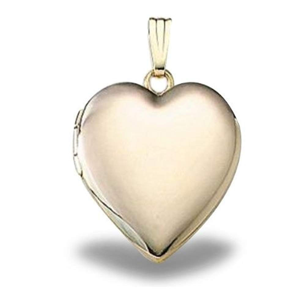 Solid 14K Yellow Gold ''Sweetheart'' Locket - 3/4 Inch X 3/4 Inch in Solid 14K Yellow Gold