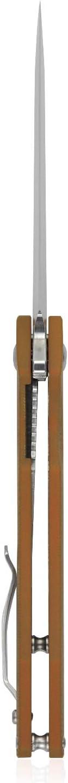 Unisex Adulto Hoja 8,7 cm Kubey KU176 edc navajas de Bolsillo Mango de G10 Caqui con Acero D2