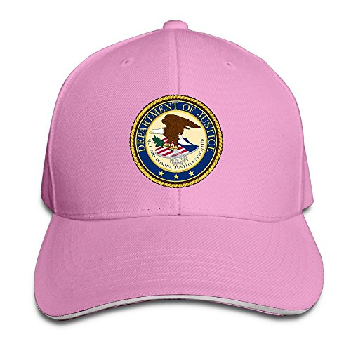 Unisex Adjustable Sandwich Cap Solid Colors Snapback Hat For Seal Of The United States Department Of Justice - Department Justice Seal