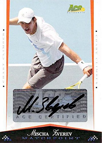 Mischa Zverev autographed tennis card (Germany) 2008 Ace Authentic Matchpoint #63