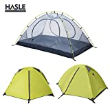 Backpacking Tent - HASLE OUTFITTERS Ultralight Backpacking Tent, 2 Person 3 Season Camping Tents for Hiking Traveling Camping Green