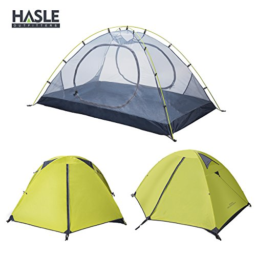 HASLE OUTFITTERS Ultralight Backpacking Tent, 2 Person 3 Season Camping Tents for Hiking Traveling Camping Green