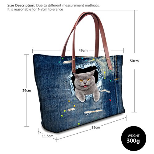à Sac Totes Bandoulière Hobos Porté Ichic Main Boutique Style F Épaule TM Femme p4nFRFOwq