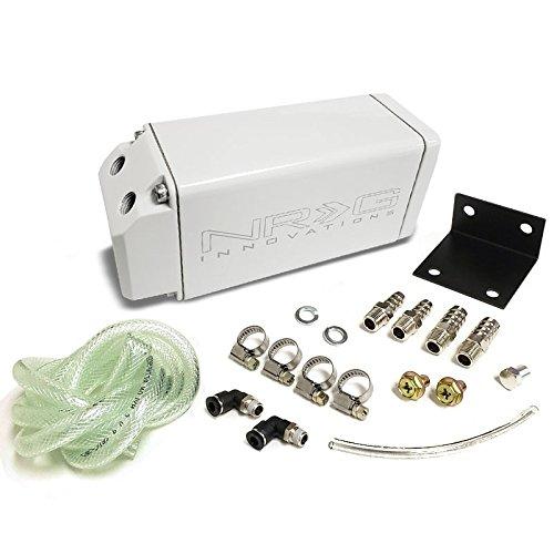 Black NRG Universal 750ML Aluminum Engine Valve Oil Catch Tank/Can Reservoir+Hose Kit (OCC-100BK) NRG Innovations