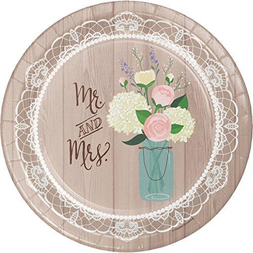 (Rustic Wedding Banquet Plates, 24 ct )