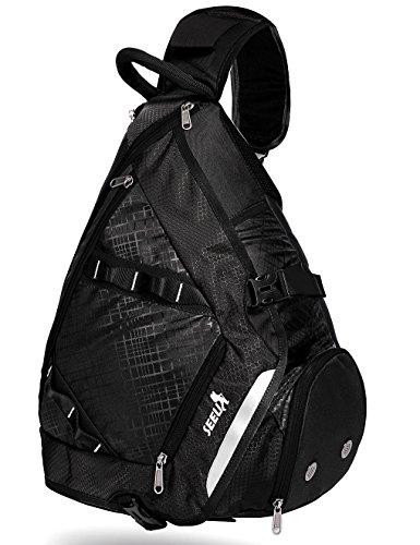 SEEU 32L Oversized Sling Bag Backpack, Crossbody Bag Gym Backpack Outdoor Hiking Travel Bag for Men Women - Sling Men For Backpacks
