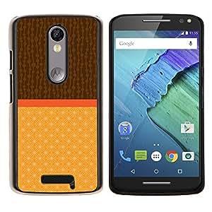 - Two tone Brown Beige - - Modelo de la piel protectora de la cubierta del caso FOR Motorola Moto X 3rd / Moto X Style RetroCandy