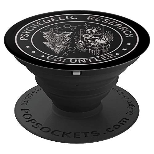 Funny Psychedelic Research Volunteer Gift PopSockets Grip and Stand for Phones and Tablets (The Best Amazon Ayahuasca Retreat)