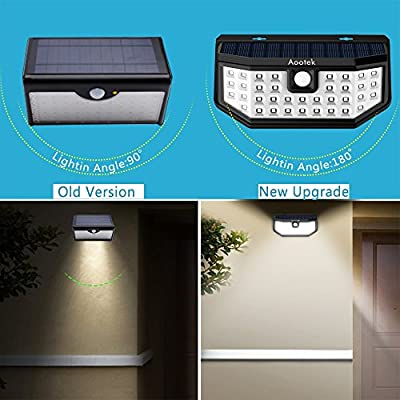 New Upgraded 36 LED Solar Lights with Wide Angle Illumination,Outdoor Motion Sensor Waterproof Wall Light Wireless Security Night Light with 3 Modes for Driveway Garden Step Stair Fence Deck 2pack