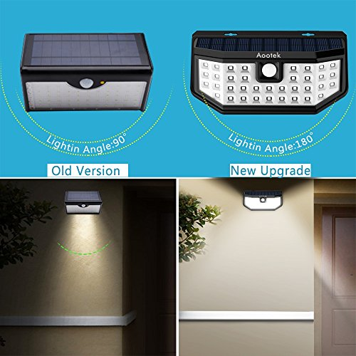 save off 7d689 6219a New Upgraded 36 LED Solar Lights with Wide Angle Illumination,Outdoor  Motion Sensor Waterproof Wall Light Wireless Security Night Light with 3  Modes ...