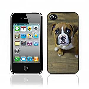 Super Stellar Slim PC Hard Case Cover Skin Armor Shell Protection // V0000862 Dog Puppy Pattern // Apple Iphone 4 4S