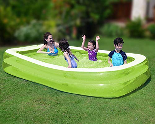 SUNMER Large Inflatable Family Paddling Pool | For Kids And Adults | 262x175x50cm | For Garden Parties 103 Inches