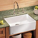 Manor House 19.69'' x 15.75'' Fireclay Apron Front Kitchen Sink Finish: Matte Black