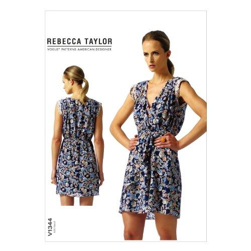 VOGUE PATTERNS V1344 Misses' Dress Sewing Template, Size E5 (14-16-18-20-22)