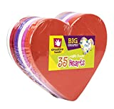 Creative Hands by Fibre-Craft - Heart Foam Shapes 35/Pkg - Arts and Crafts - For Ages 3 and Up