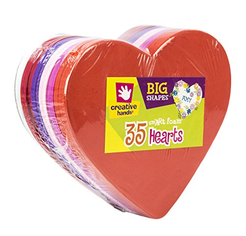 Creative Hands by Fibre-Craft - Heart Foam Shapes 35/Pkg - Arts and Crafts - For Ages 3 and Up (Foam Shapes 35 Pkg Hearts compare prices)