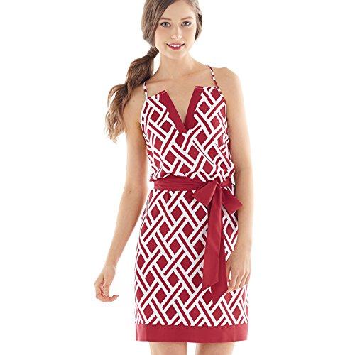 Womens Printed Sleeveless Racerback Dress