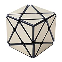 HJXD globle Axis Special Shape Magic Cube Black Kingkong with Gold Stickers