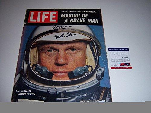 John Glenn SenatorAstronaut PSA/DNA Signed Life Magazine - Authentic Signed Autograph