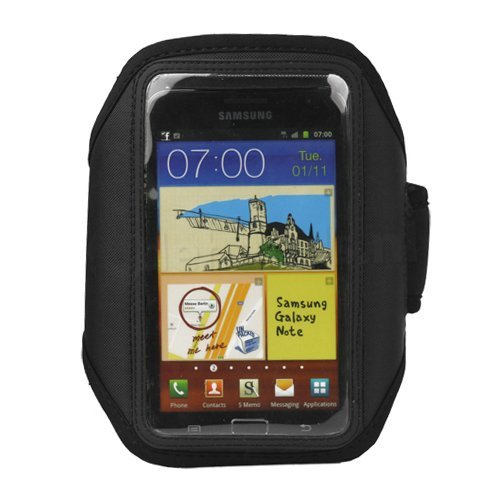 - Importer520 Deluxe Adjustable Black Armband Sports Case Cover Compatible With Samsung Galaxy Note 2 Note II N7100