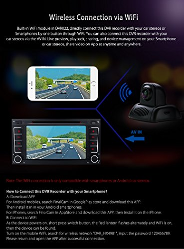 XTRONS Full HD 1080P WiFi Car DVR Wireless Camera Night Vision Mini Video Recorder FinalCam APP by XTRONS (Image #1)