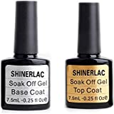 Bluesky Shinerlac Vernis à Ongles Gel UV/LED Top & Base Coat
