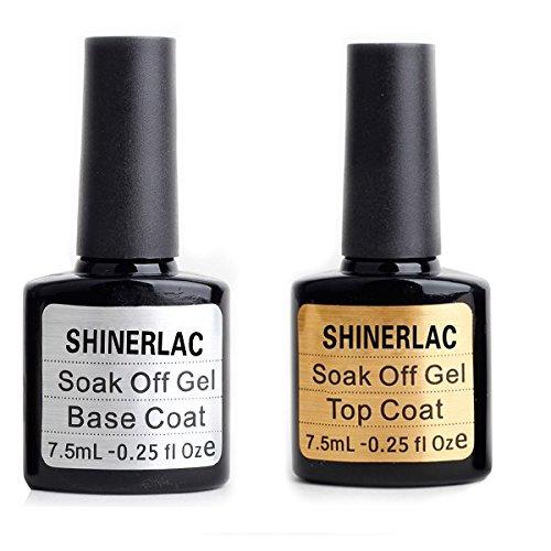 shinerlac UV/LED Nagellack-Gel Top und Base Coat 10ml-2Stück