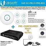 Ubiquiti UAP-AC-PRO-5 Access Point PRECONFIGURED + TS-8-PRO 8Port Gigabit Switch