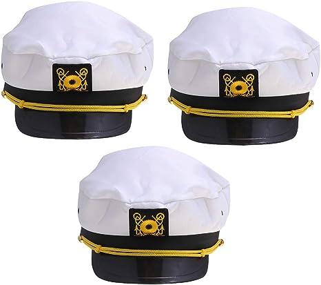Toyvian Adultos Marinero Marinero Gorras Yate Capitán Sombreros ...