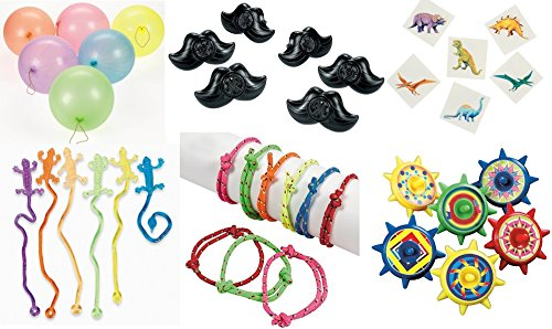 - 150 piece Kid's Party favor Toy Assortment Bundle Pack, Pinata filler, Grab Bags, Carnival prizes