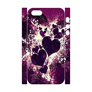 3D Bumper Plastic Customized Case Of Love Pink for iPhone 5,5S