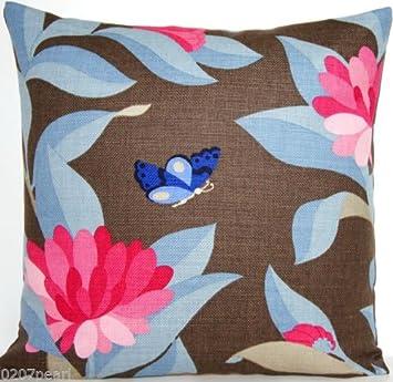 Amazon.com: Rosa flores Manta Decorativa Funda de almohada ...