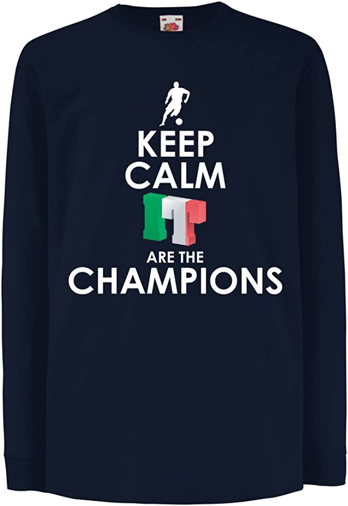 Russia Championship 2018 Kids Boys//Girls T-Shirt Italians are The Champions World Cup Soccer Team of Italy Fan Shirt 9-11 Years Blue Multi Color